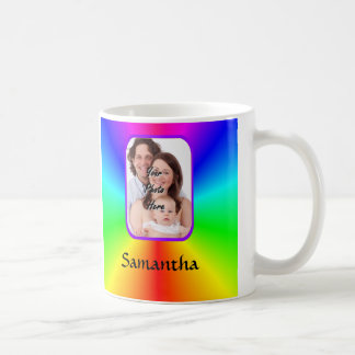 Colorful personalized photo background coffee mug