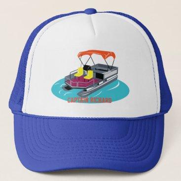 PontoonBoatParadise Colorful Personalized Pontoon Boat Cap