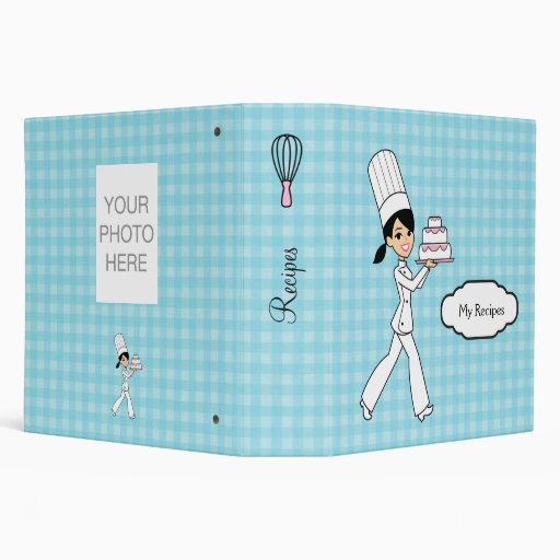 Colorful Personalized Recipe Binder for Girls