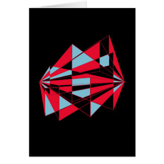 Colorful perspective (black) card