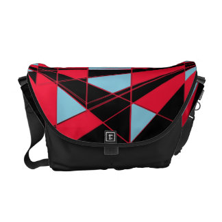Colorful perspective (black) courier bag