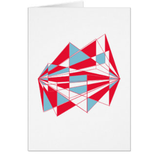 Colorful perspective card