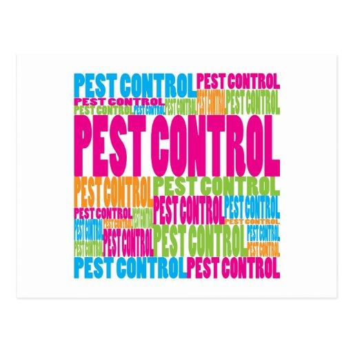 Colorful Pest Control Postcard