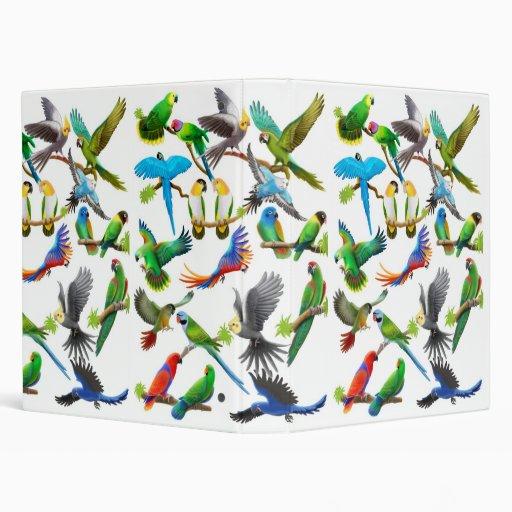 Colorful Pet Parrots Avery Binder
