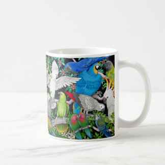 Colorful Pet Parrots of the World Mug