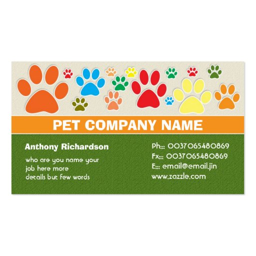 colorful pet pets care veterinary business cards : Zazzle