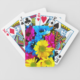 Colorful Petals Daisy Blooms Bicycle Playing Cards