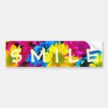 Colorful Petals Daisy Blooms Car Bumper Sticker