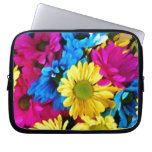 Colorful Petals Daisy Blooms Computer Sleeve
