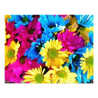 Colorful Petals Daisy Blooms Flyer
