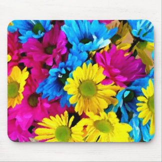 Colorful Petals Daisy Blooms Mouse Pad