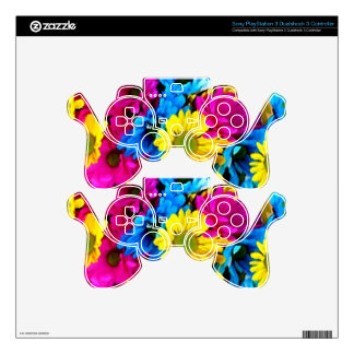Colorful Petals Daisy Blooms Skin For PS3 Controller