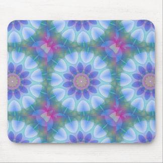 Colorful Petals Kaleidoscope Mouse Pad
