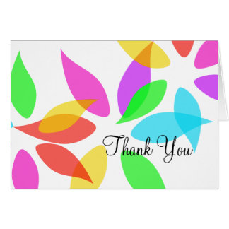 Colorful Petals Thank You Card