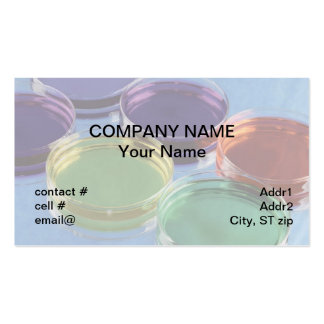 colorful petri dishes business card