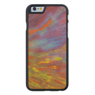 Colorful Petrified Wood close-up Carved Maple iPhone 6 Slim Case