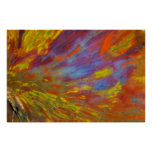 Colorful Petrified Wood close-up Poster