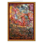 Colorful petrified wood greeting card