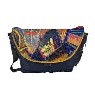 Colorful Petroglyphs Laptop Case/Messenger Bag