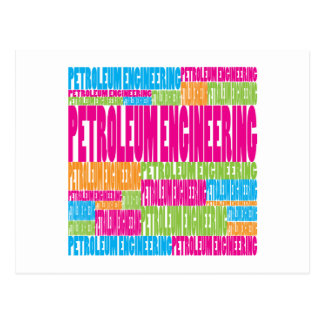 Colorful Petroleum Engineering Postcard