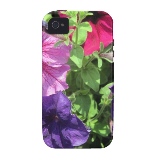 Colorful Petunias Vibe iPhone 4 Case
