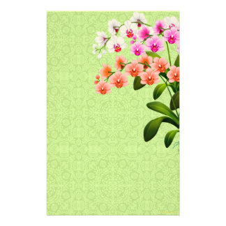 Colorful Phalaenopsis Orchid Flowers Stationery