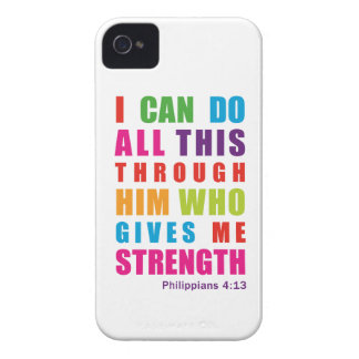 Colorful Philippians 4:13 iPhone 4/4S Case