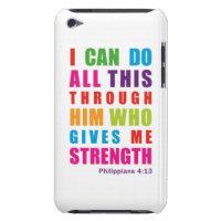 Colorful Philippians 4:13 iPod Touch Case