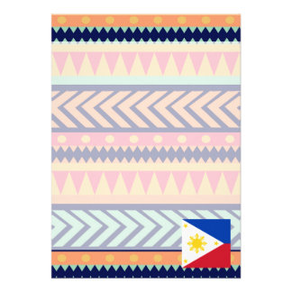Colorful Philippines Flag Box Card