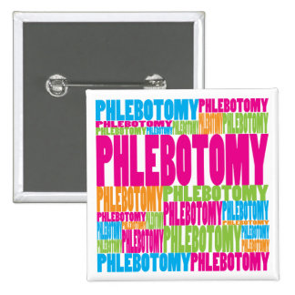 Colorful Phlebotomy Button