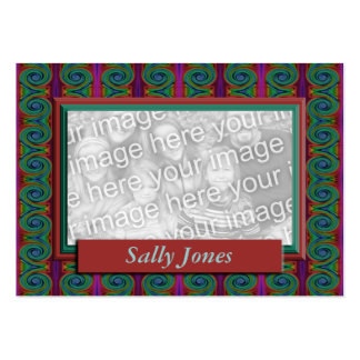 Colorful Photo Frame Business Card