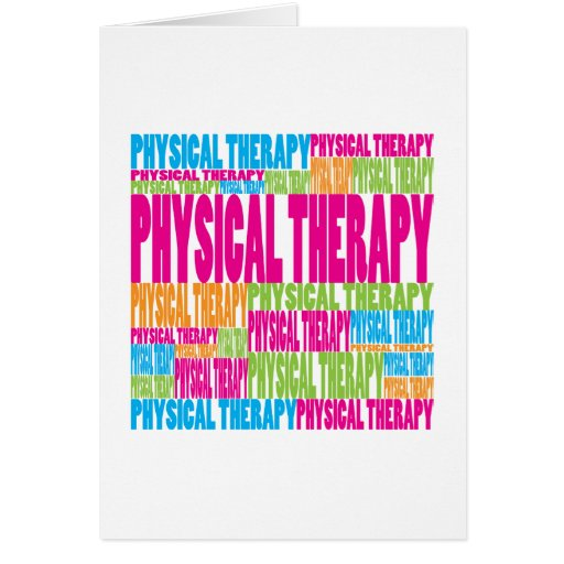 Colorful Physical Therapy Card