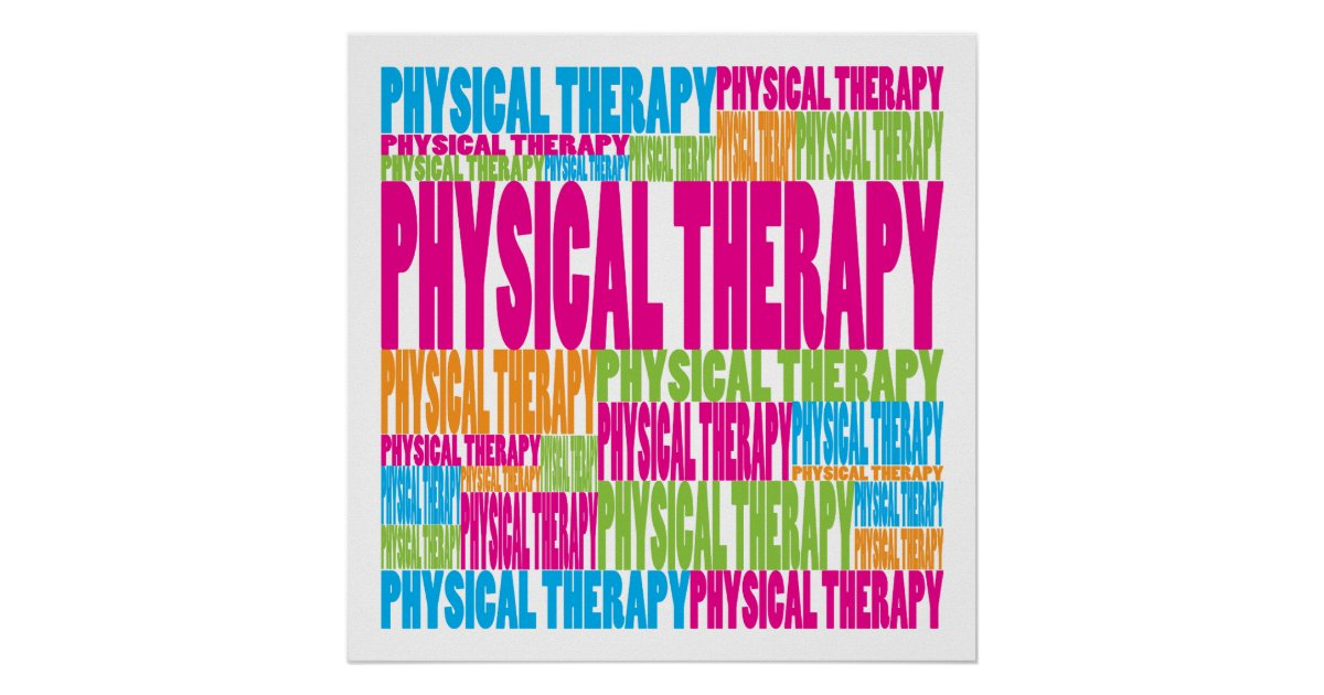 colorful physical therapy poster
