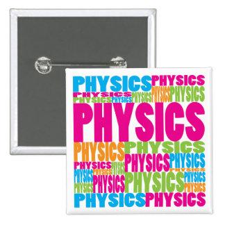 Colorful Physics 2 Inch Square Button