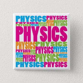 Colorful Physics Pinback Button