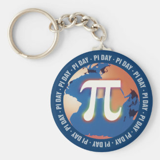 Colorful Pi Day on Earth - Math Keychains