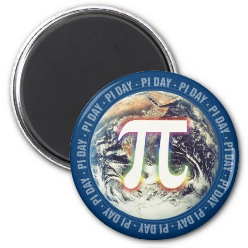 Colorful Pi Day on Earth - math magnet