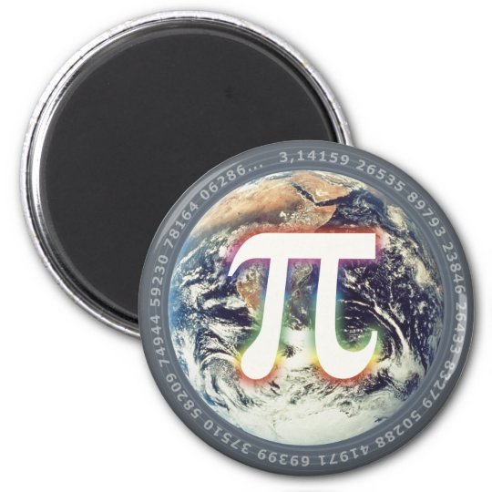 Colorful Pi Number on Earth - math magnet