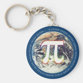 Colorful Pi on Earth | Math Keychain