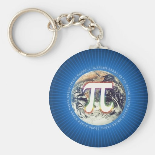 Colorful Pi on Earth - Math Keychains