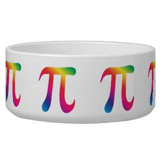 Colorful pi symbol bowl