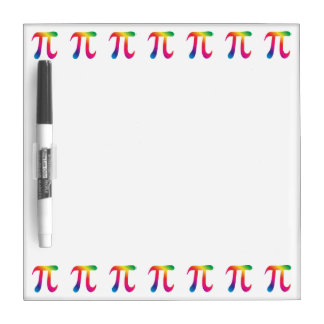 Colorful pi symbol dry erase boards