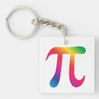 Colorful pi symbol keychain