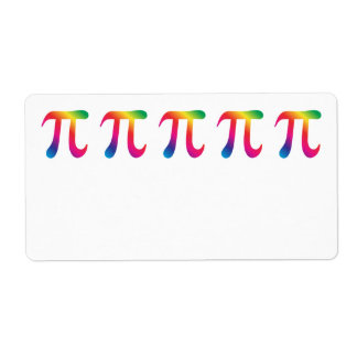 Colorful pi symbol label
