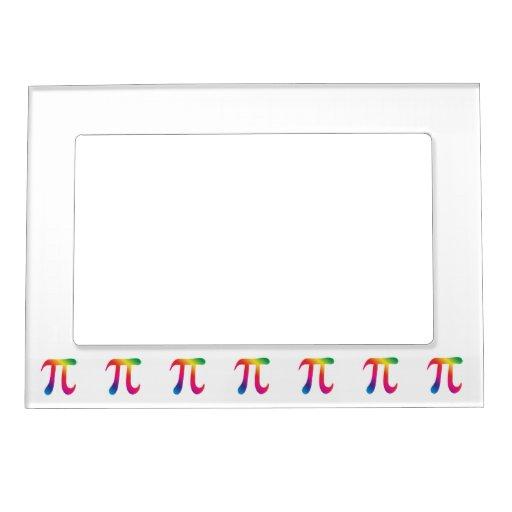 Colorful pi symbol magnetic photo frames