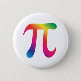 Colorful pi symbol pinback button