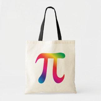 Colorful pi symbol tote bag