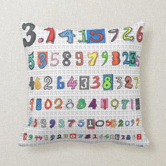 Colorful Pi Throw Pillow