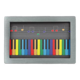 Colorful piano keyboard belt buckle