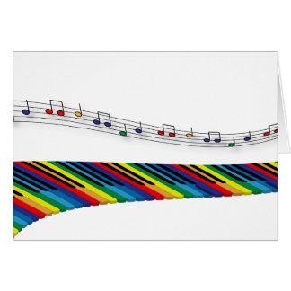 Colorful piano keyboard card